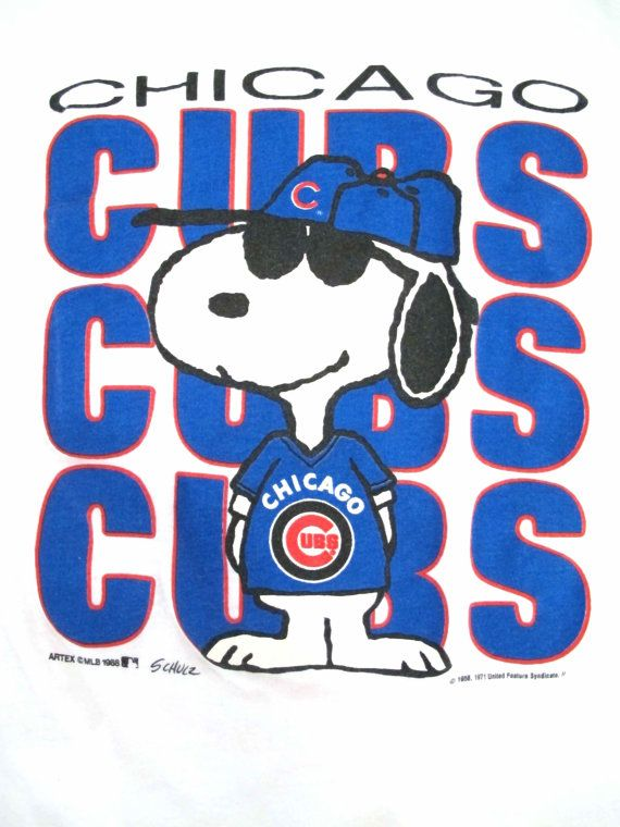 Vintage 1980s Snoopy Chicago Cubs T shirt Size XL by kokorokoko, $22.00