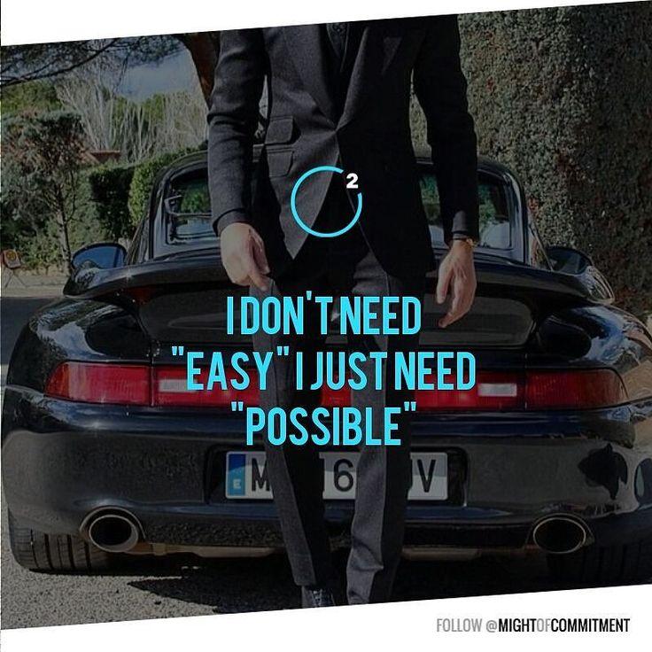"I don't need ""easy""... #moc2 #motivation #inspiration"