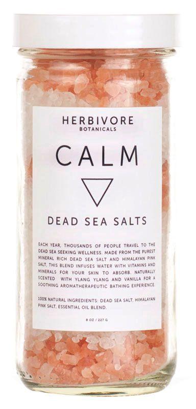 Herbivore Botanicals Calm Dead Sea Bath Salts Entspannendes Bad mit dem Salz aus dem Toten Meer.