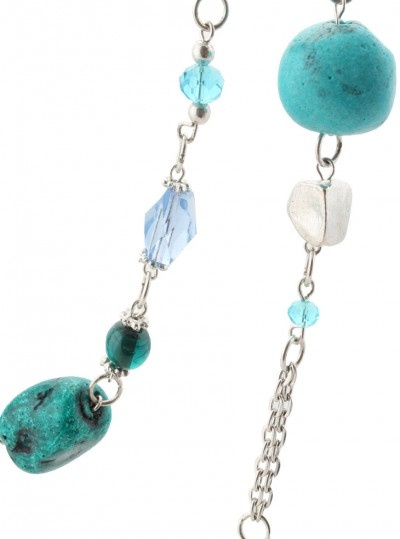 Melissa - Glass and metal necklace