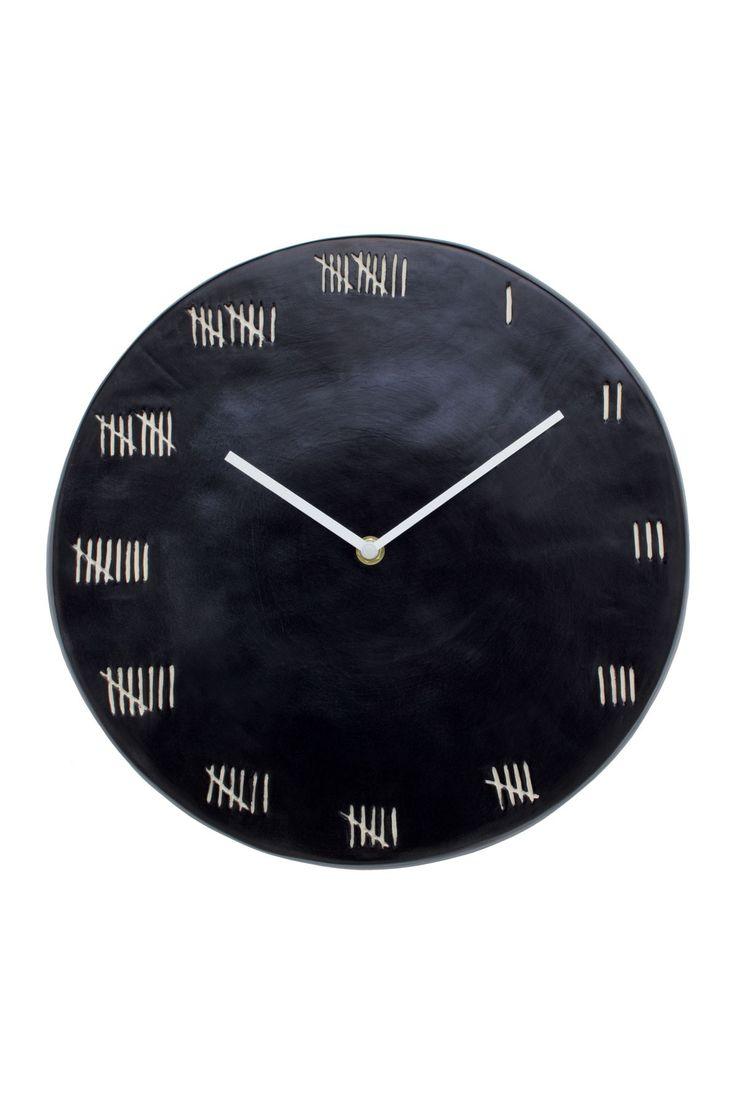 Black Chalkboard Round Clock by Magenta on