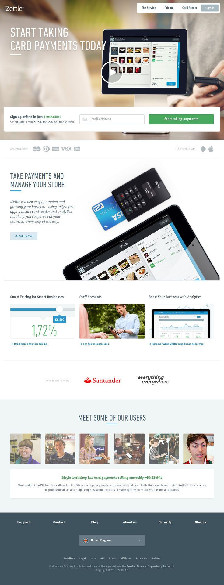 iZettle Website #web #ui #design