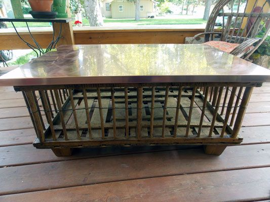 14 best chicken crate images on pinterest chicken coop for Crate style coffee table