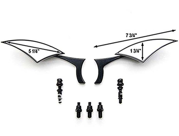 Custom Rear View Mirrors Black Pair For Kawasaki VN Vulcan Classic Drifter 800