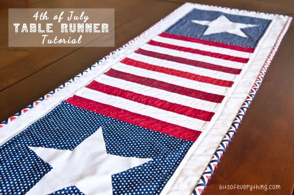 Patriotic Table Runner Tutorial (she: Holly) I love this! So easy and cute