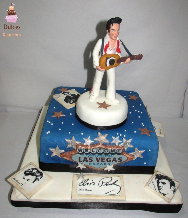 Torta Elvis Presley #TortaElvisPresley #TortasDecoradas #DulcesKaprichos