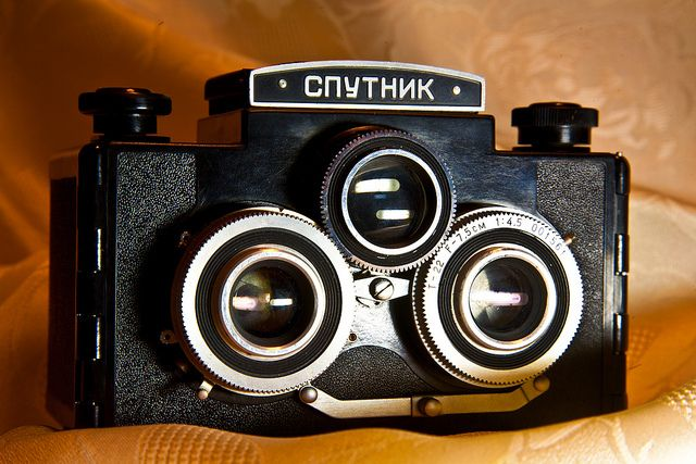 "Old Russian stereo film camera ""Sputnik"" | Flickr - Photo Sharing!"