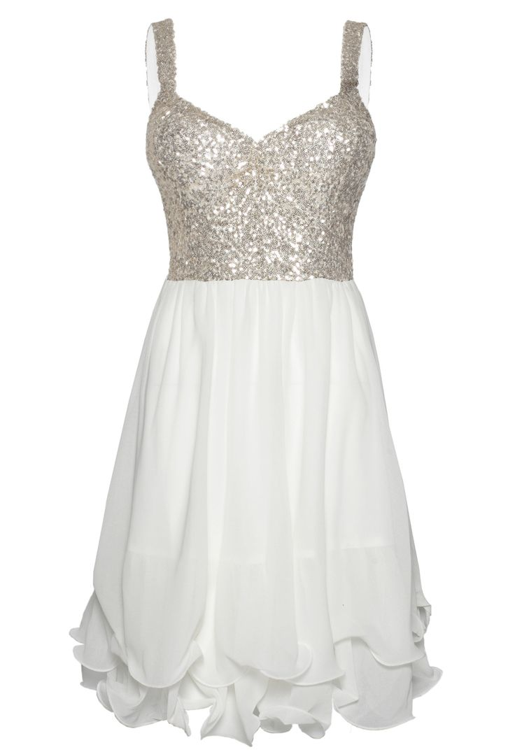 White Skater Dress with Sequin Embellished Sleeveless Top- Bachelorette party?