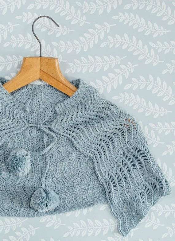 PDF Pattern for Crochet Ripple Wrap by KatGoldinDesigns on Etsy, £2.00