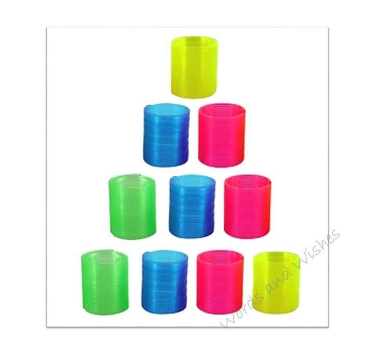 1-50 Mini Slinky Spring Kids Cheap Party Goody Bag Filler Wedding Loot Toy  | eBay