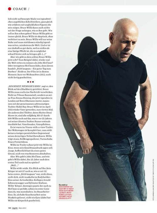Bruce Willis in GQ
