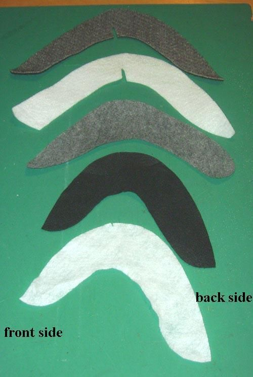 """Sleeve heads,by Dutch dressmakers and tailorsaka""""snorren"""", English translation called """"moustaches"""" because the shape mimics a moustache. I never saw these shaped sleeve heads in the USA, but ..."""