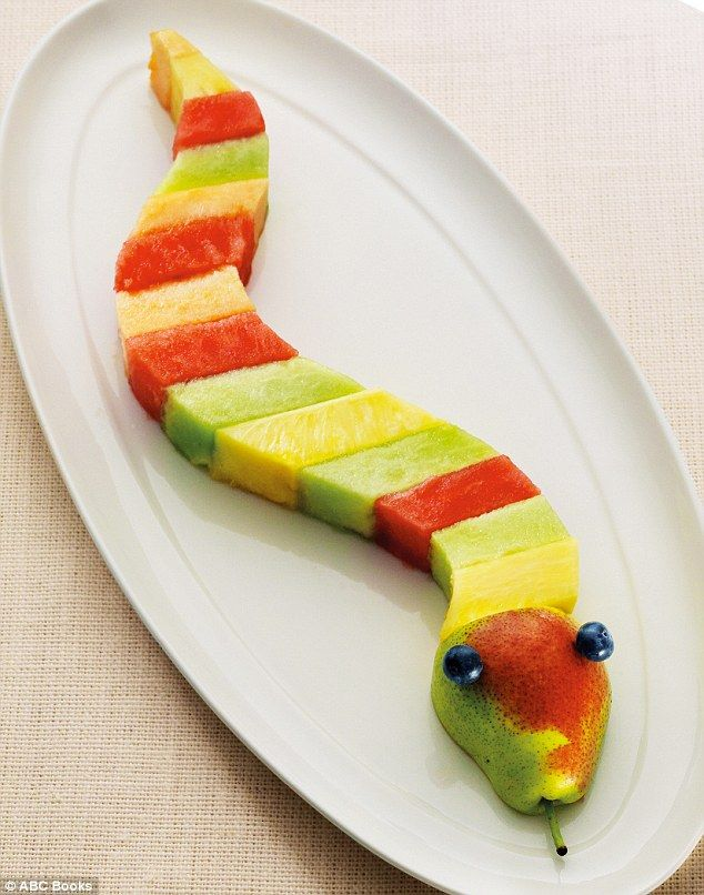 Cute characters: Her recipes see healthy foods transformed into a series of imaginative characters (