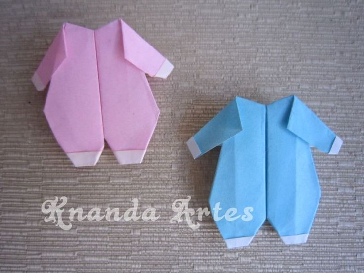 Knanda Artes: Lembrancinha Macacão de Bebê em Origami - Diagrama.