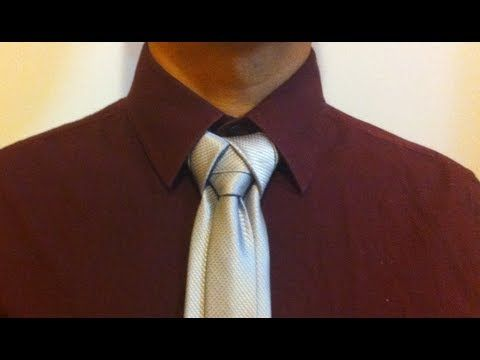 How to tie the Merovingian Knot or Ediety knot for your necktie - YouTube