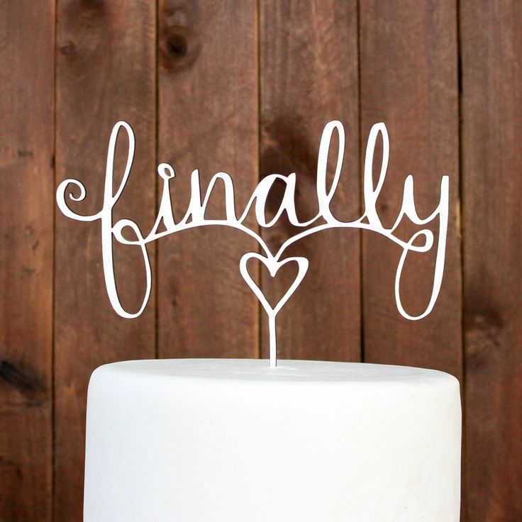 "Stamp Out custom cake toppers are a dollop of DIY and a wallop of WOW! Made of MDF wood and white on one side—toppers come ready for you to paint and finish however you like. Approximate size: 8.5"" x"
