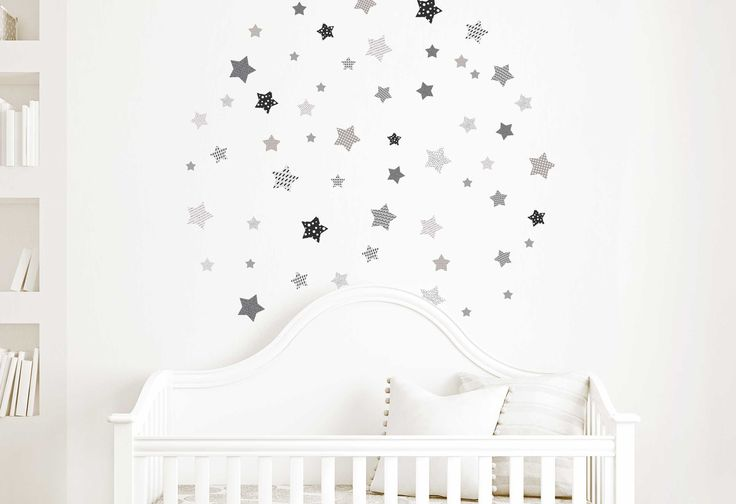 Stickers pour chambres : Gris étoilé : Décoration pour enfants par le-roi-leo