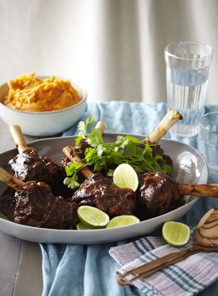 Coated in a rich aromatic Asian sauce, these meltingly tender lamb shanks pair well with Asian flavours and are delicious served with a bowl of satiny orange kumara mash.