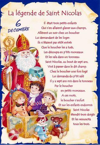 La légende de Saint-Nicolas.