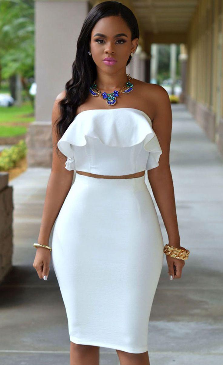 $29.99 Ruffle Two-piece Skirt Set