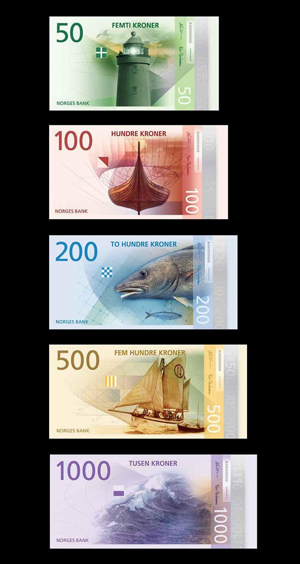 New Norwegian money. Maybe I'd be better at keeping money if it was this pretty.