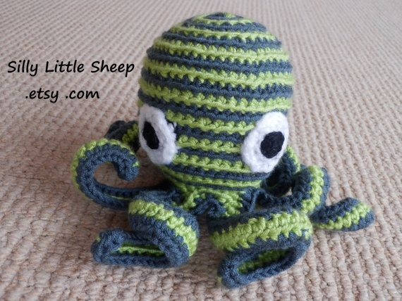 Octohug soft stuffed crocheted toy by sillylittlesheep on Etsy, $22.00