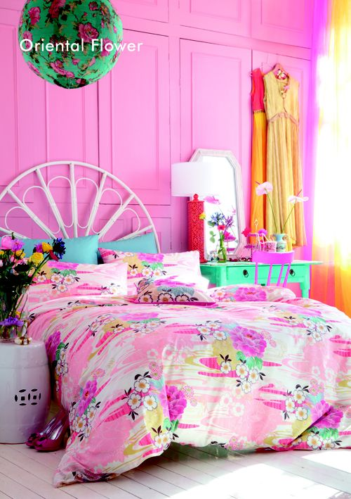 bright pink bedroom - Heart Handmade UK: Bedroom Inspiration from Accessorize Homewares Spring Summer 2013: