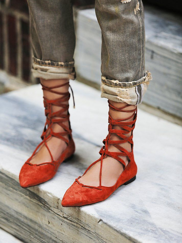 Jeffery Campbell Shay Lace Up Flat at Free People Clothing Boutique