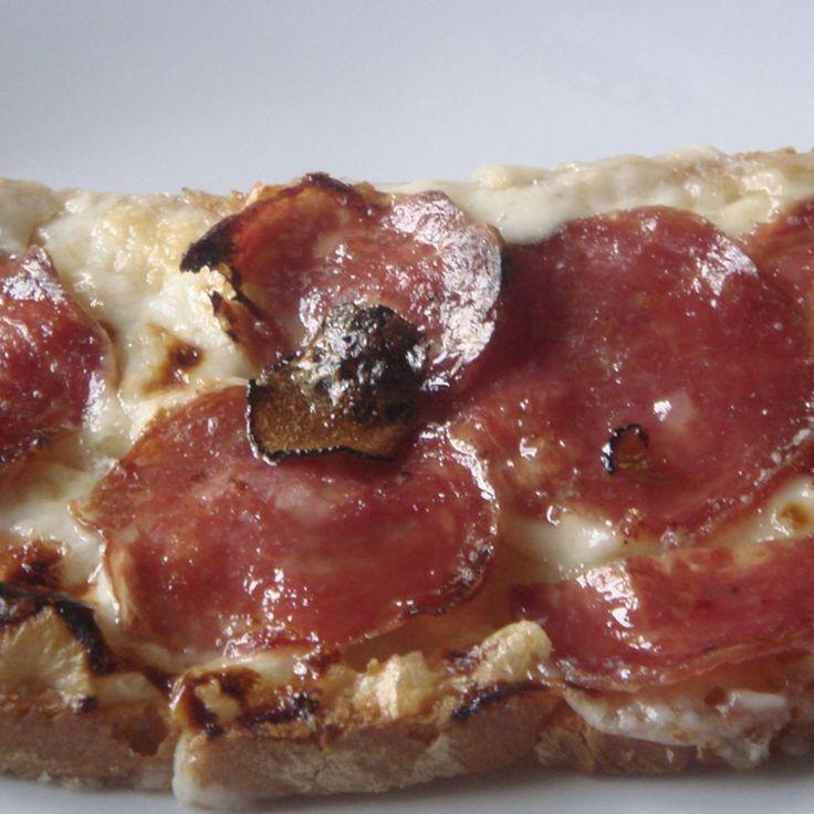 Grilled Taleggio cheese, Salami and Truffle Honey - Crostone di Taleggio, Salami con Miele Tartufato recipe on Food52