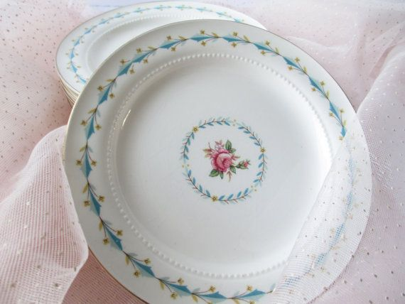 Vintage Bread and Butter Plates Harmony House by thechinagirl