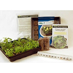 Indoor culinary herb garden starter kit by living whole foods gardens grow your own and - Indoor herb garden starter kit ...
