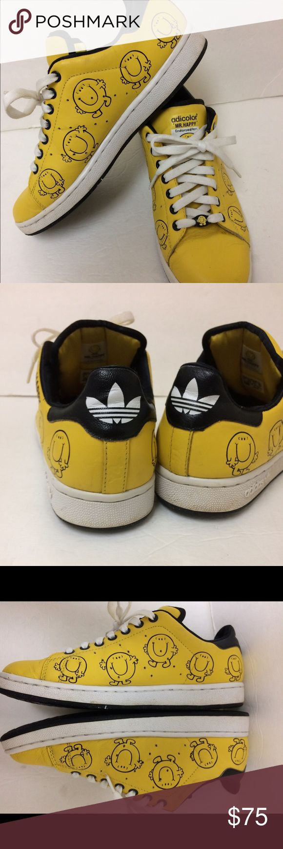 Stan Smith Adidas Sneakers Adidas Adicolor Stan Smith Y4 Hr Happy endorsed by Roger Hargreaves sneakers gently used. Adidas Shoes Athletic Shoes