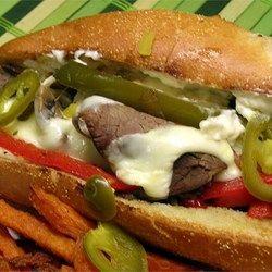 Philly Cheesesteak Sandwich with Garlic Mayo