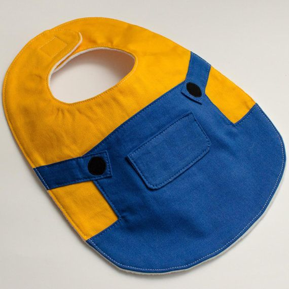 Hey, I found this really awesome Etsy listing at https://www.etsy.com/listing/239386705/minion-baby-bib