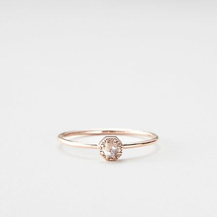 PETITE MOONSTONE CROWN BEZEL RING /: Rings Moonstones, Bezel Rings, Tiny Rings, Moonstones Rings, Diamonds Rings, Boyfriends Rings, Small Rings, Moonstones Crowns, Promise Rings