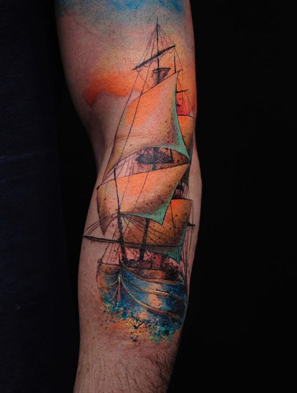 a9c3550ca5f93 100 Boat Tattoo Designs | tattoos for dads sleeve | Tattoo designs ...