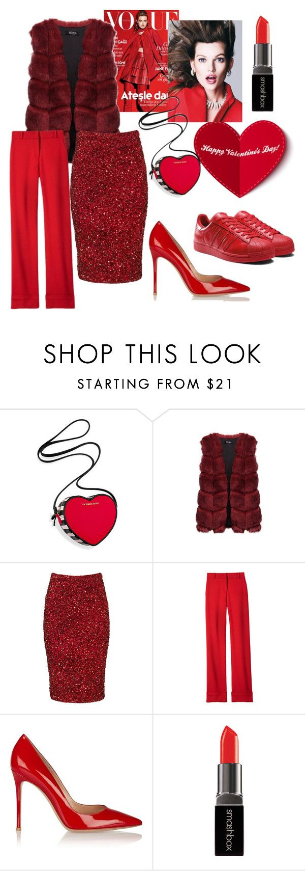 Valentine's Day by kimvictoria on Polyvore featuring Parker, Laveer, Victoria's Secret, Smashbox, women's clothing, women's fashion, women, female, woman and misses