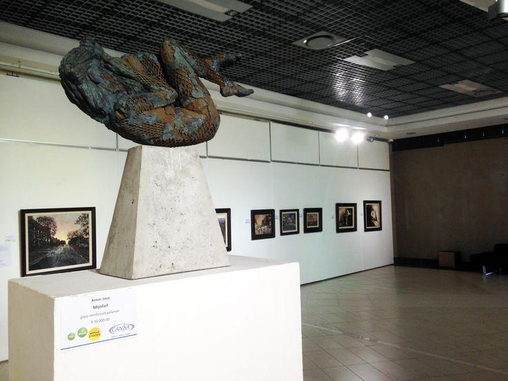 Unisa Art Gallery - CANSA Art Exhibition - Artworks by Anton Smit - Photograph by Megan Erasmus