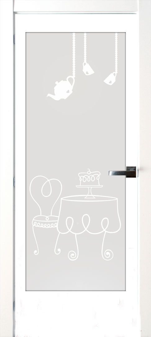 Vinilo para puertas de cocina. Vinilo translucido   con dibujo impreso o recortado. #lovevinilos