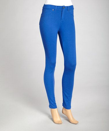 Take a look at this Royal Blue Skinny Pants by Zenana on #zulily today!