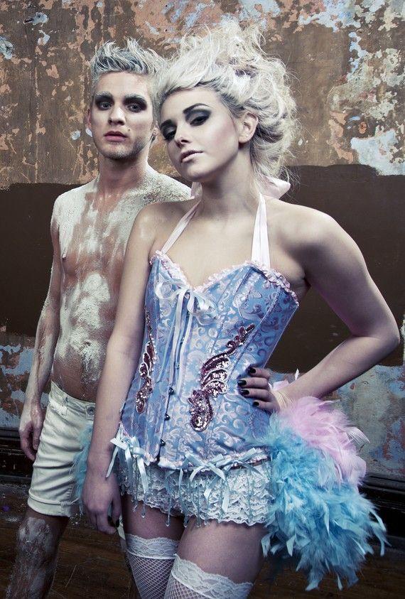 ALICE IN WONDERLAND Saloon Girl dress Burlesque by olgaitaly