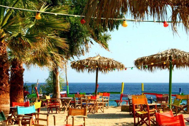 favourite beach bar #halkidiki #beachbar #tristinika