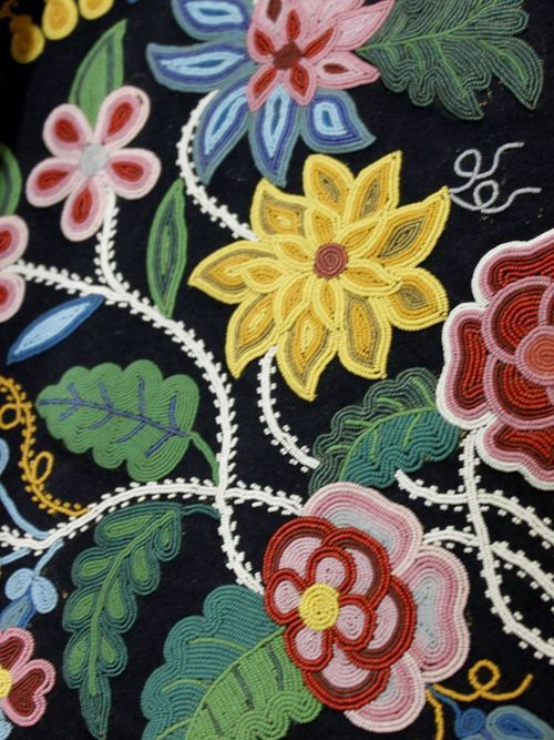 Athabascan beaded flower