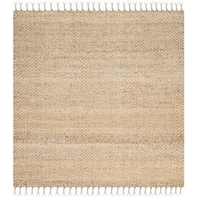 7x7 Square Safavieh Natural Fiber Natural Sisal Rug For