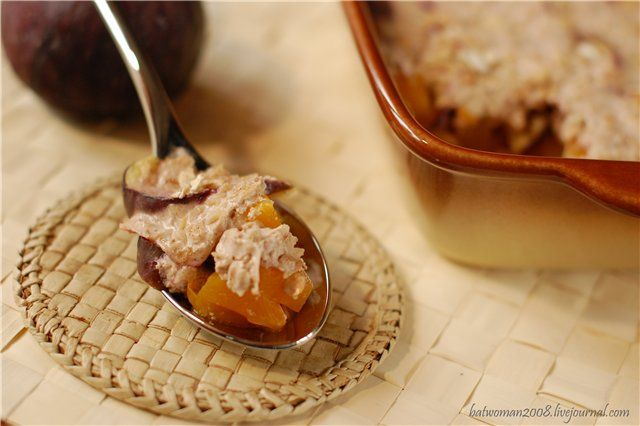 Тыквенно-инжирный десерт