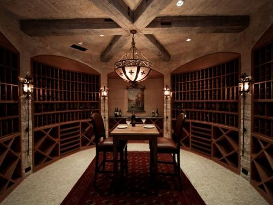 High End Home Wine Cellar - Home and Garden Design Ideas