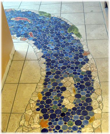 how to make a mosaic tile floor