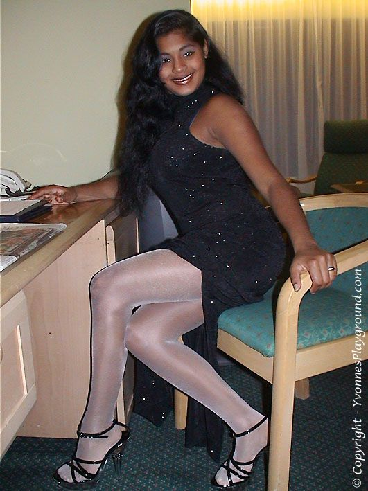 Hot Indian babes in pantyhose and platforms. So sexy ...