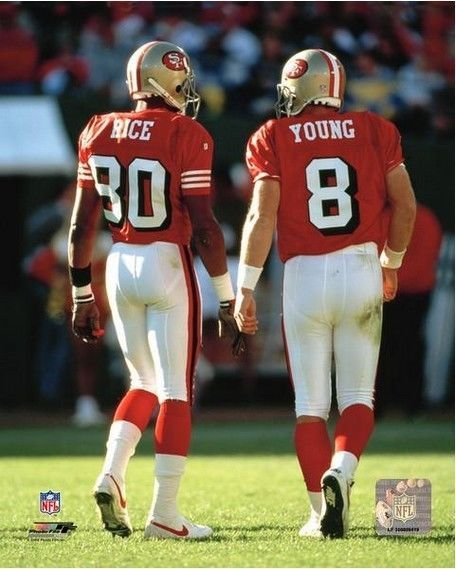 Jerry Rice Steve Young San Francisco 49ers #NFL Action Photo (select Size) from $63.99