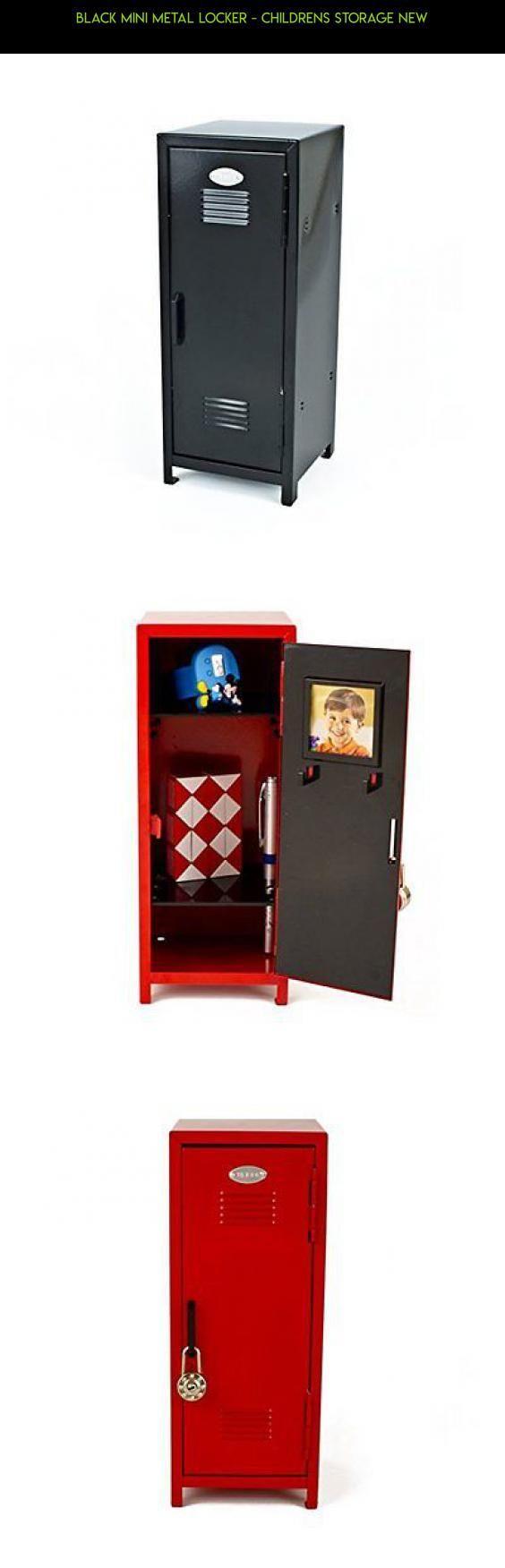 Black Mini Metal Locker - Childrens Storage New #gadgets #locker #fpv #racing #kit #parts #lock #storage #shopping #products #camera #technology #drone #tech #plans